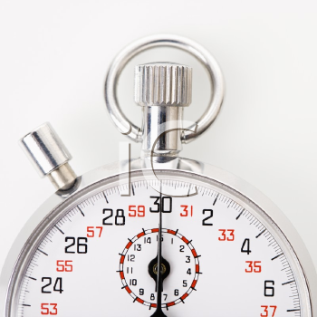 Royalty Free Photo of a Close-Up of a Stopwatch