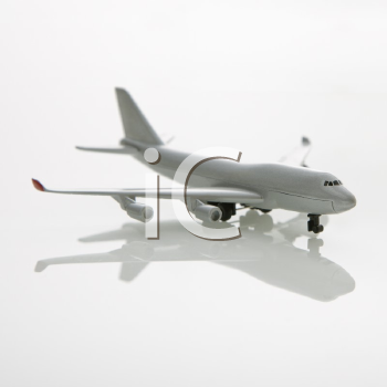 Royalty Free Photo of a Miniature Model Commuter Jet Airplane