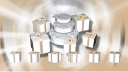 Royalty Free HD Video Clip of Rotating Wedding Gifts Surrounding a Wedding Cake