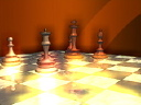Royalty Free Video of a Chess Board