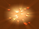 Royalty Free Video of Hearts