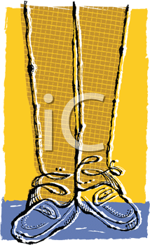 Royalty Free Clipart Image of a Persons Shoes