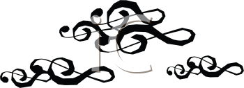 Royalty Free Clipart Image of Treble Clef Clouds