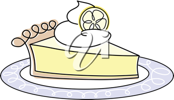 Royalty Free Clipart Image of a Lemon Pie