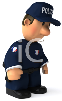 Royalty Free Clipart Image of a Police Man