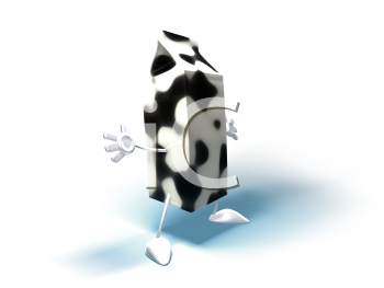 Royalty Free 3d Clipart Image of a Milk Carton