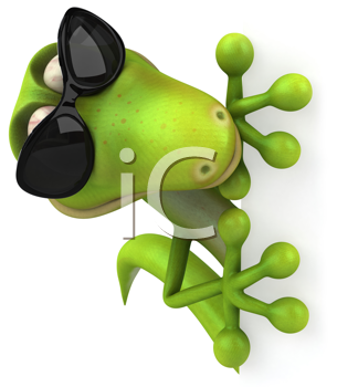 Royalty Free Clipart Image of a Lizard With Sunglasses