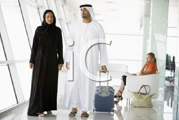 Royalty Free Photo of Passengers in an Aiport