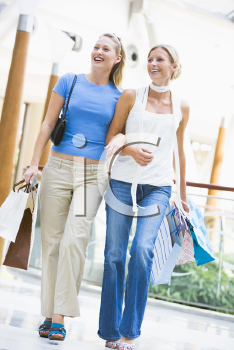 Royalty Free Photo of Two Women at a Mall