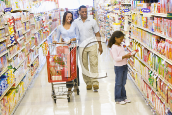 Royalty Free Photo of a Family Shopping