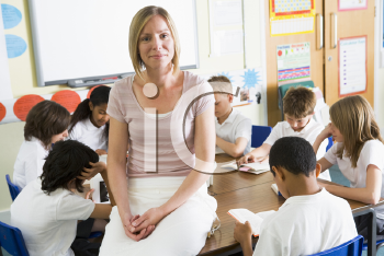 Royalty Free Photo of a Teacher in a Class