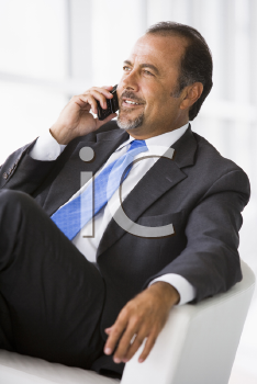 Royalty Free Photo of a Man With a Cellphone