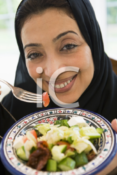 Royalty Free Photo of a Woman With Salad