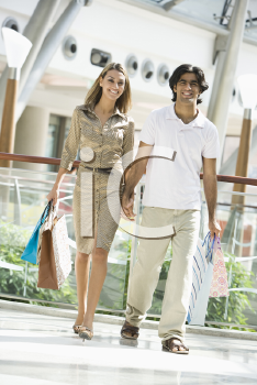 Royalty Free Photo of a Couple at the Mall