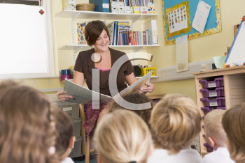 Royalty Free Photo of a Teacher Reading
