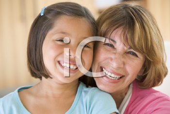 Royalty Free Photo of a Granddaughter and Grandmother