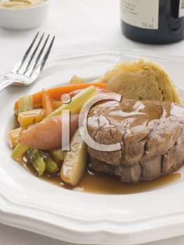Royalty Free Photo of Plated Fillet of Beef a la Ficelle