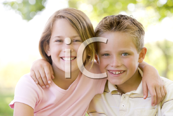 Royalty Free Photo of a Sister and Brother