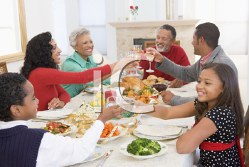 Royalty Free Photo of a Family at a Holiday Dinner