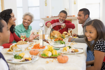 Royalty Free Photo of a Family Christmas Dinner