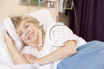 Royalty Free Photo of a Woman in the Hospital