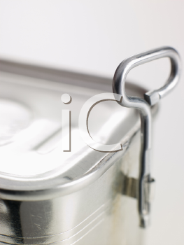 Royalty Free Photo of an Opener on a Tin Can