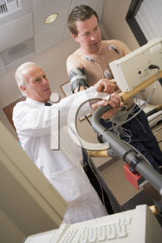 Royalty Free Photo of a Patients Doing a Cardio Test