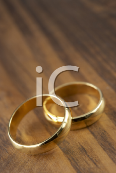 Royalty Free Photo of Two Wedding Rings