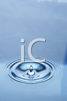 Royalty Free Photo of Concentric Circles in Water