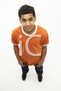 Full Length Portrait Of Young Boy
