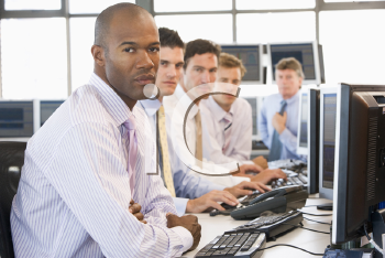 Royalty Free Photo of a Stock Trader Team