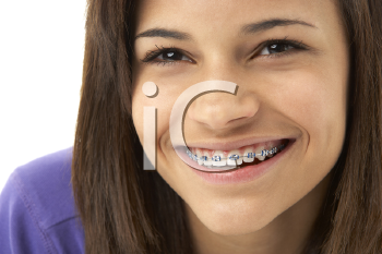 Royalty Free Photo of a Girl With Braces