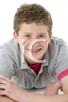 Royalty Free Photo of a Boy With Braces