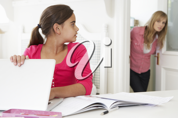 Mother Catches Daughter Using Laptop When Meant To Be Studying