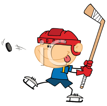 Royalty Free Clipart Image of a Player Taking a Shot