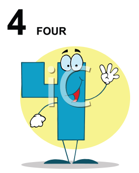 Royalty Free Clipart Image of a Four