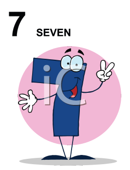 Royalty Free Clipart Image of a Seven