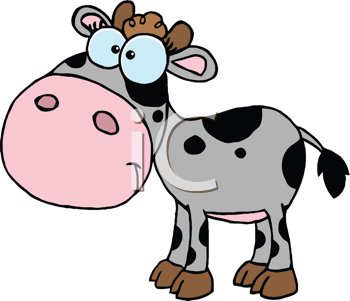 Royalty Free Clipart Image of a Calf