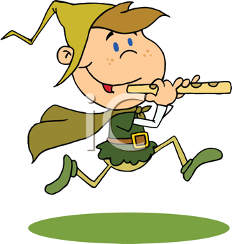 Royalty Free Clipart Image of a Running Piper