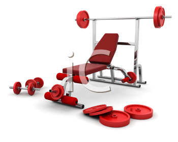 Royalty Free Clipart Image of Weight Equipment