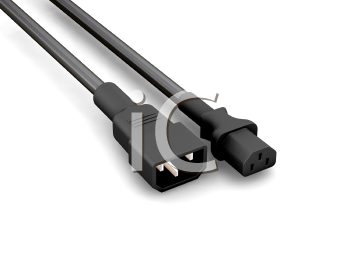 Royalty Free Clipart Image of Power Cables