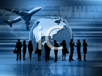 Conceptual image showing global business