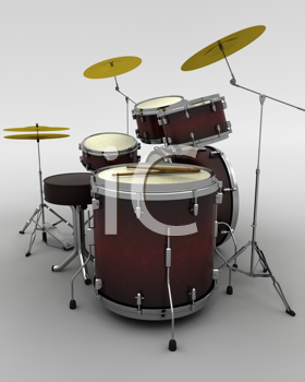 Royalty Free Photo of a Drum Set