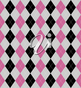 Seamless tiled background of an argyle style pattern