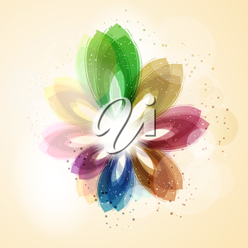 Abstract background with colourful floral design