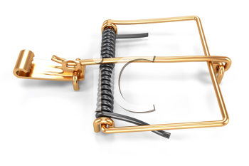 Royalty Free Clipart Image of Mousetrap Mechanism