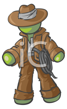 Royalty Free Clipart Image of an Adventurer