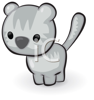 Royalty Free Clipart Image of a Kitty