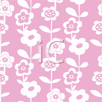 Royalty Free Clipart Image of a Daisy Flower Pattenr