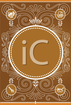 Royalty Free Clipart Image of a Thanksgiving Frame